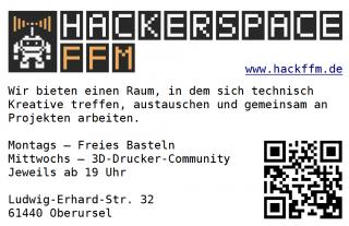 Hackerspace Flyer Hackerspace Ffm